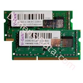 Jual Memory Notebook V-GEN SODIMM DDR3 1GB PC-10600/1333