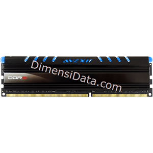 Picture of Memory Avexir DDR3 Core Blue PC12800 8GB (1x8GB) - AVD3U16001108G-1CW