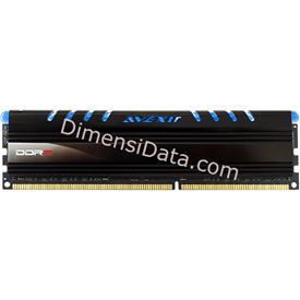 Jual Memory Avexir DDR3 Core Blue PC12800 8GB (1x8GB) - AVD3U16001108G-1CW