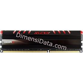 Jual Memory Avexir DDR3 Core Red PC12800 8GB (1x8GB) - AVD3U16001108G-1CIR
