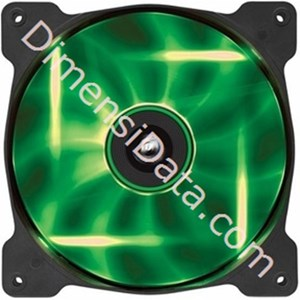 Picture of Fan Corsair SP140 GREEN LED (CO-9050027-WW)