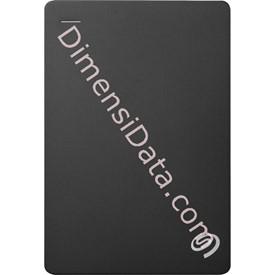 Jual Hard Drive External SEAGATE BACKUP PLUS SLIM 2.5  Inch 5TB (STDR5000300) BLACK +Pouch