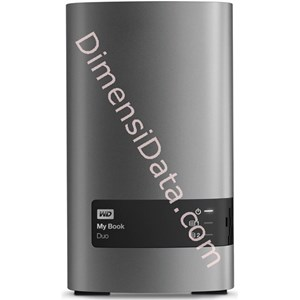 Picture of Hard Drive External Western Digital My Book Duo 6TB (WDBLWE0060JCH-SESN)