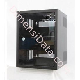 Jual Wallmount Rack Server HAGANERACK 6U-350mm Single Door Soho Series (HRWO635SD)