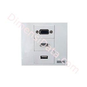 Picture of Wall Plate Power Box BRITE Faceplate FP-3