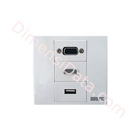 Jual Wall Plate Power Box BRITE Faceplate FP-3