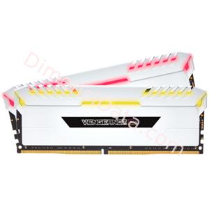 Picture of Memory Desktop CORSAIR Vengeance RGB DDR4 CMR16GX4M2C3000C15W (2 x 8GB) White
