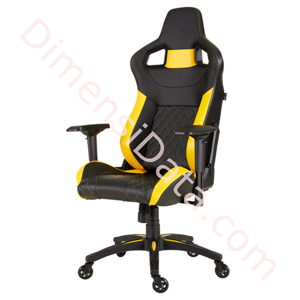 Picture of Chair Gaming CORSAIR T1 RACE 2018 [CF-9010015-WW] Black-Yellow
