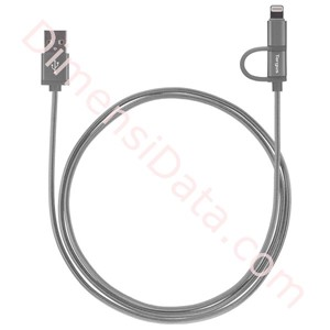 Picture of Charge Lightning Cable Targus 2-in-1 Space Grey [ACC995AP]