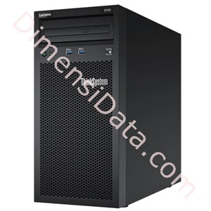 Picture of Tower Server Lenovo ThinkSystem ST50 [Xeon E-2274G, 8GB, O/Bay 3x3.5in SS SATA, 400W] 7Y48A035SG