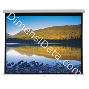 Picture of Screen Projector BRITE Manual Pull Down 84  Inch [MAS-2121]