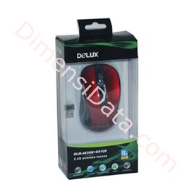 Jual DELUX Wireless DLM-483 GB Blue Track Mouse