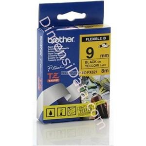 Picture of Pita Printer BROTHER TZE-FX621 Flexibel Black on Yellow