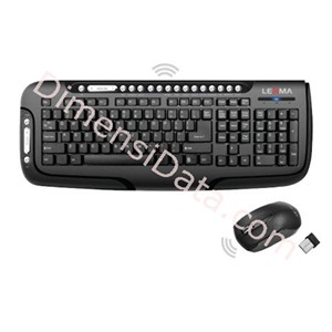Picture of Keyboard LEXMA Wireless Multimedia Desktop [LS8310R]