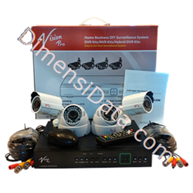 Jual CCTV D.I.Y Vision Pro Paket 123 AN22