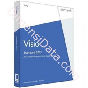 Picture of Microsoft Visio std 2013 32-bit/x64 English DVD