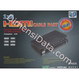 Jual Connector VERNON 1 x 8 HDMI Splitter