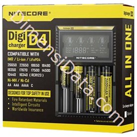 Jual Baterai Nitecore Digicharger 4 Slot D4 Universal Battery Charger