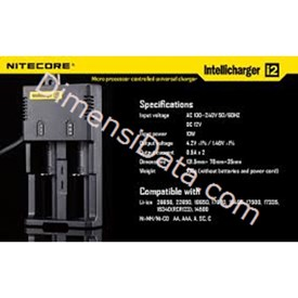 Jual Baterai Nitecore Digicharger 2 Slot I2 Universal Battery Charger