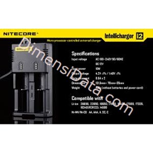 Picture of Baterai Nitecore Digicharger 2 Slot I2 Universal Battery Charger