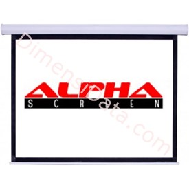 Jual Screen Projector ALPHA Manual 84 Inch