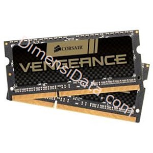 Picture of Memory Notebook CORSAIR 2x4GB DDR3L PC-12800 [Vengeance CMSX8GX3M2B1600C9]