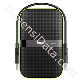 Jual Harddisk Eksternal Portable Silicon Power Armor A60 PHD 2TB-Black
