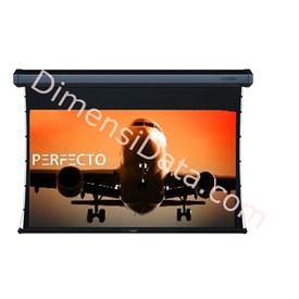 Jual Screen Projector PERFECTO Motorized EWSPF 1824RL Diagonal