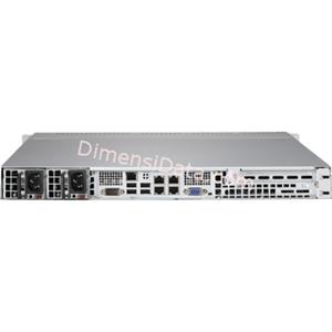 Picture of Server Supermicro SuperServer 5018R-MR (E5-2600V3)