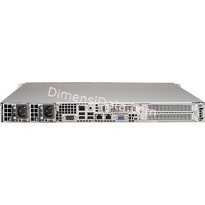 Picture of Server Supermicro SuperServer 5018R-WR (E5-2600V3)